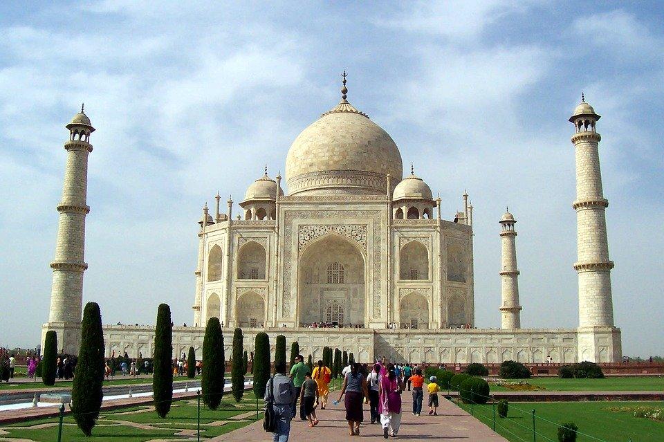 Taj Mahal Marble Seven Wonders Medieval India Agra