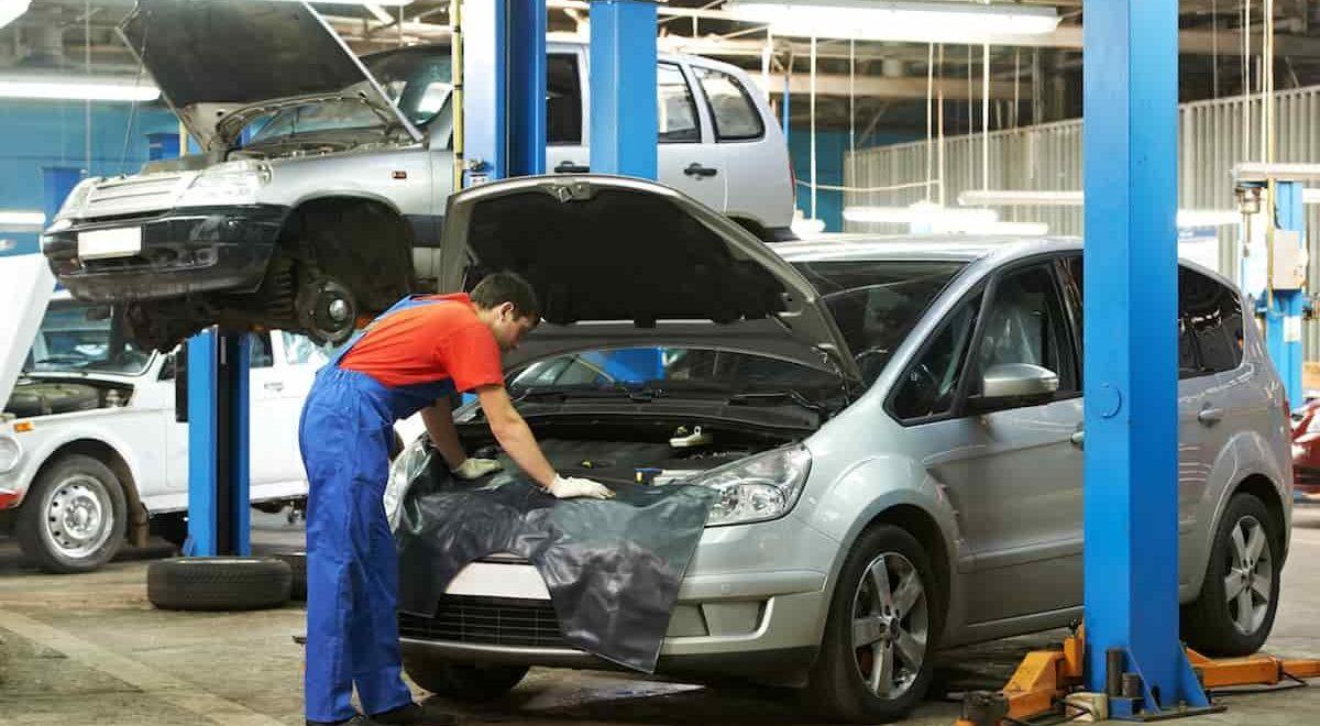 garage de réparation automobile